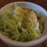 マローネ - チリビーンズライスに付くサラダ