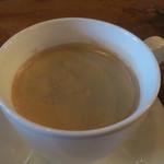マローネ - チリビーンズライスに付くコーヒー