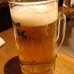 下町もんじゃ焼 らくらく - 生ビール
