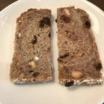 向山製作所郡山表参道カフェ - サービスでいただいたパン