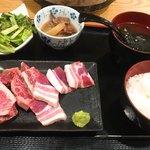 きっちょう - ミックス焼肉定食 ¥1000
