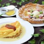カフェテリアニューヨーク - 料理写真:もう食べた♡? 大好評!スフレオムライス&ダッチベイビーパンケーキ♡♡♡