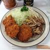 キッチングリーン - 料理写真:3品盛り合わせ、生姜焼き・クリームコロッケ・串カツ・ご飯なし1,100円