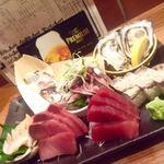 宇田川町魚金 - お手頃3点盛り。