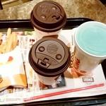 バーガーキング - バーガーキング@お茶の水サンクレール店 ワッパーMセットのコーヒーとポテト