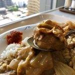 NHK放送技術研究所 食堂 - 薄ぎり肉がミルフィーユ団子に・・