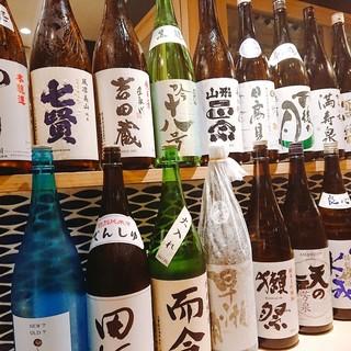 厳選の日本酒の数々