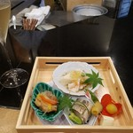 Teppankappoumurakumo - 旬菜の盛り合わせ