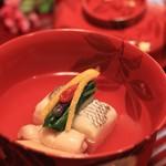 料理屋 真砂茶寮 - 桜鯛の真蒸