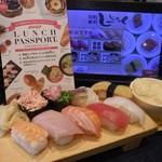 Shijakku - ランパス特別メニューの寿司ランチセット