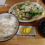 大黒屋 - 野菜炒め定食550円
