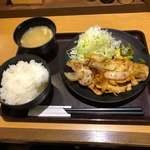 まいしょく家 - クイック定食 まいしょく家 高松兵庫町店(豚ロース生姜焼き定食)