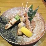 茜どき - 阿波尾鶏の盛合せ・五品。918円