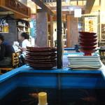 東京イカセンター - かにの生け簀。
