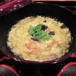 大神 - 三の膳(椀物):すっぽんの玉子とじ ノドグロ 胡麻豆腐