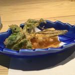 蛍雪の宿 尚文 - 味噌味の天ぷら