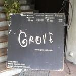 """グローブカフェ - 谷九""""GROVE Café""""店頭看板"""