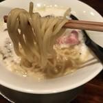 鳴尾山芋研究所 ラーメン部 - (濃)にごり+どろどろ(1000円)麺リフト