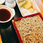 福田屋 - 天せいろ1600円。蕎麦の量も多め!