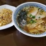 琢 - 醤油セット(太麺)950円