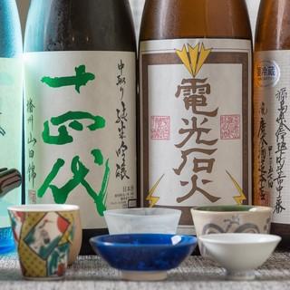 オリジナル日本酒や焼酎あり!和食との上質な一献に。
