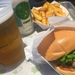 シェイク シャック - Shake shack Humbergur single  Potato M Beer Shake