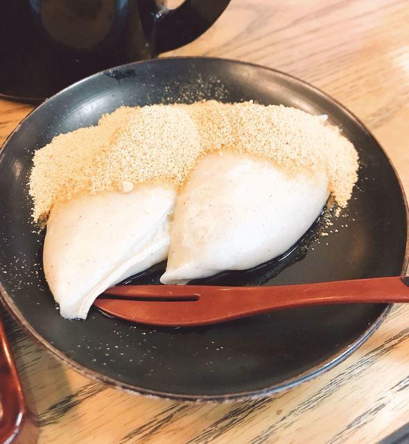 蕎麦處 しみず - そばがき きなこ♪( ´▽`)