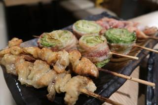 串焼き 村山 - かわ・レタス肉巻き