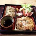 手打ちそば 志延庵 - 料理写真:ヒレカツ丼+冷そばセット 1,000円税込