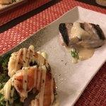 鉄板Diner JAKEN - 海鮮焼き二種盛り合わせ