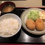 遊食楽酒 舫 - コロッケ定食¥630