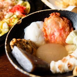 """札幌では珍しい""""関西風おでん""""。人気は""""自家製ハンペン""""です"""