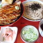 サガミ - 焼真あなご丼と麺