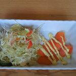 卵's工房 - セットのサラダ・前菜