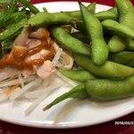 味軒 - 枝豆と棒々鶏