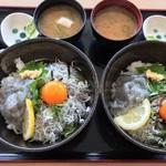 みのり家 - 天晴シラス丼¥780 卵¥50 味噌汁¥100