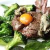 銀座楸 - 料理写真:牛肉100%のたたきハンバーグ ~タルタル風~