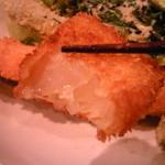 まめや - 白身魚みたいな玉ねぎフライ