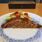 はしもとや - 広島産牡蠣フライオムライス(中身)