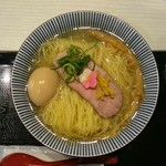鯛塩そば 灯花 - 鯛塩らぁ麺、大盛り、卵トッピング