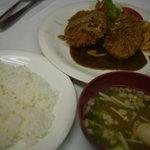 三笠 - 料理写真:エビとホタテのクリームコロッケランチ