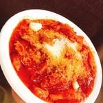トラットリア イ・コントルニ - 野外出店@暮らしのマルシェ2018にて 『トリッパ 』ハチノス(牛ホルモン)のトマト煮込み 600円