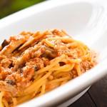 ミルフィオーリ - 料理写真:大豆のスパゲッティ ミートソース風
