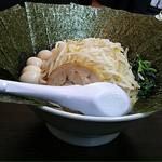 横浜家系ラーメン 魂心家 - 2018.4.28  のりSP豚骨味噌大盛☆ 野菜盛り☆ うづら5個