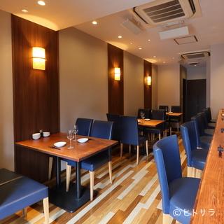 中国料理店のイメージを覆す、カフェのような心地よい空間
