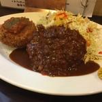 とんかつひろ喜 - ハーフヒレ&クリームコロッケ定食(¥850)