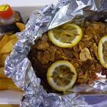 アメリカン食堂 カリフォルニアダイナー ヘンリー - プライム アンガスビーフのレモンステーキ200g +フライドガーリック ミディアム