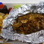 アメリカン食堂 カリフォルニアダイナー ヘンリー - さつまいも豚のステーキ 200g+フライドガーリック