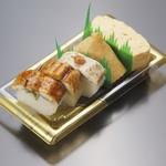 大徳寺 さいき家 - 料理写真:はも寿司いなり寿司だし巻1080円