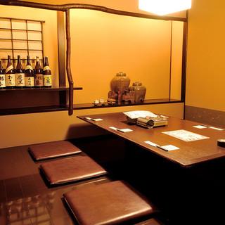 【個室】広々とした個室で安心してお食事を。大小さまざま